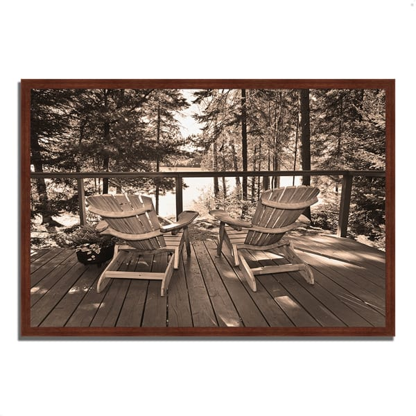 Framed Photograph Print 32 In. x 22 In. At The Lake Multi Color