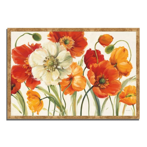Framed Painting Print 32 In. x 22 In. Poppies Melody I by Lisa Audit Multi Color
