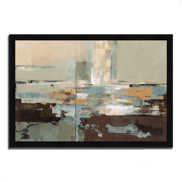 Framed Painting Print 39 In. x 27 In. Morning Haze by Silvia Vassileva Multi Color
