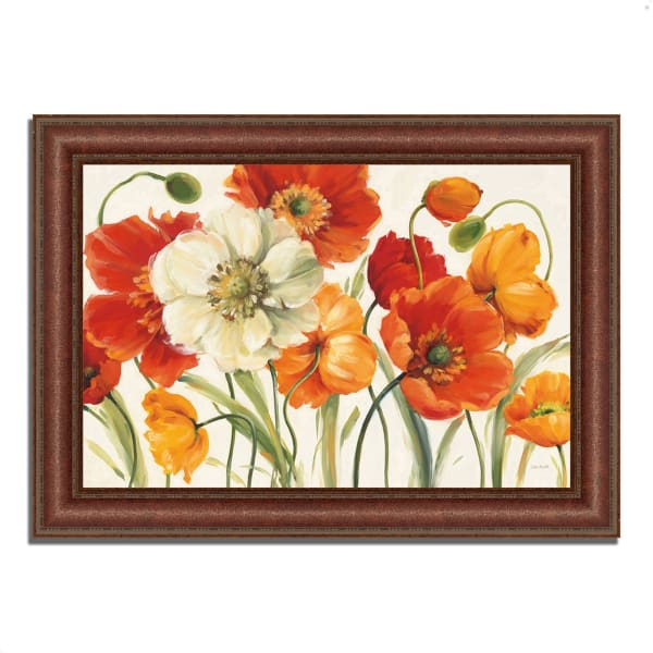Framed Painting Print 37 In. x 27 In. Poppies Melody I by Lisa Audit Multi Color