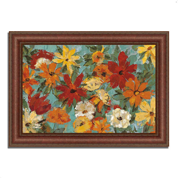 Framed Painting Print 37 In. x 27 In. Bright Expressive Garden by Silvia Vassileva Multi Color