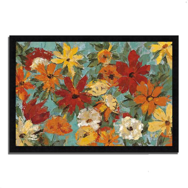 Framed Painting Print 46 In. x 33 In. Bright Expressive Garden by Silvia Vassileva Multi Color