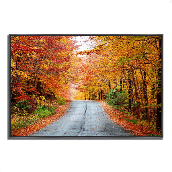 Fine Art Giclee Print on Gallery Wrap Canvas 38 In. x 26 In. Autumn Afternoon Multi Color