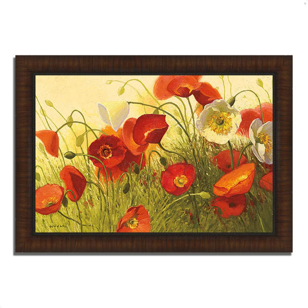 Framed Painting Print 36 In. x 26 In. Havin a Heat Wave by Shirley Novak Multi Color