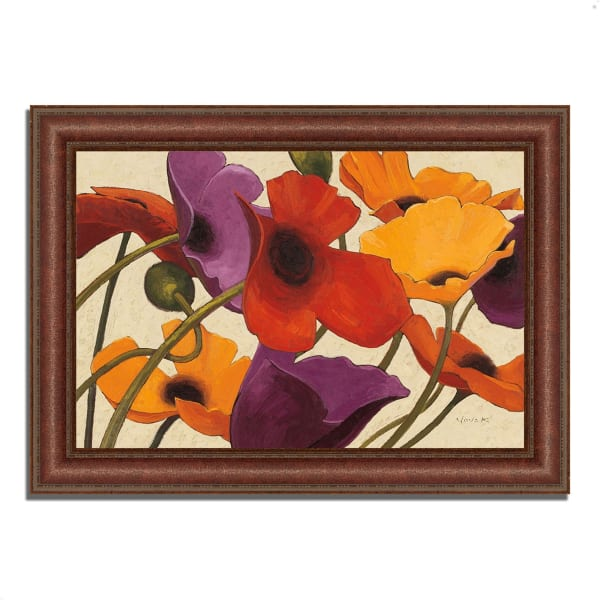 Framed Painting Print 37 In. x 27 In. Up Three by Shirley Novak Multi Color