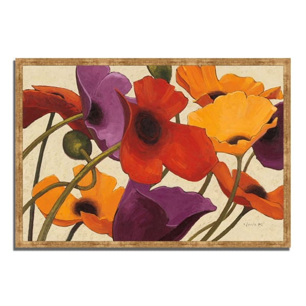 Framed Painting Print 38 In. x 26 In. Up Three by Shirley Novak Multi Color