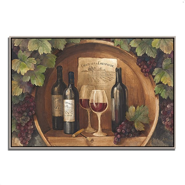 Fine Art Giclee Print on Gallery Wrap Canvas 47 In. x 32 In. At the Winery by Albena Hristova Multi Color