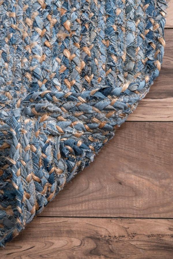 Hand Braided Otelia 8' x 10' Denim Cotton and Jute Rug