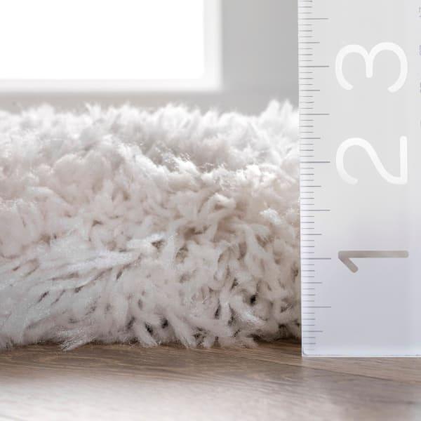 Hand Tufted Kristan Shag 8' x 10' Ivory Rug