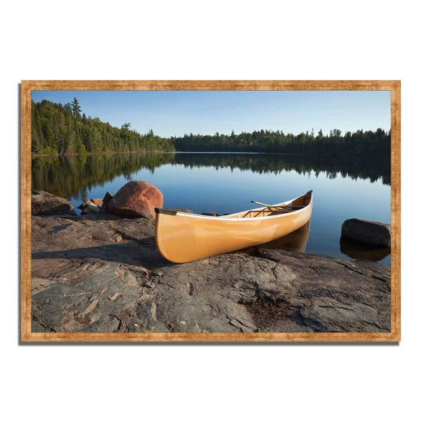 Framed Photograph Print 38 In. x 26 In. Invitation to Relax Multi Color