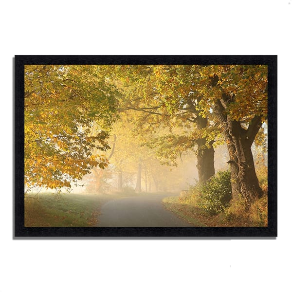 Framed Photograph Print 46 In. x 33 In. On A Misty Autumn Morning Multi Color