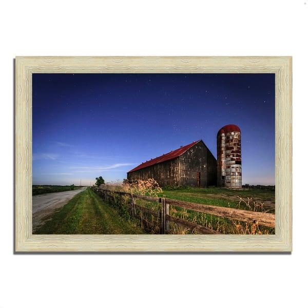 Framed Photograph Print 42 In. x 30 In. So God Made a Farmer Multi Color