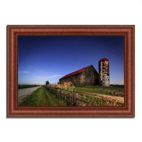 Framed Photograph Print 43 In. x 31 In. So God Made a Farmer Multi Color