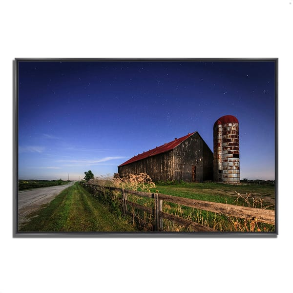 Fine Art Giclee Print on Gallery Wrap Canvas 47 In. x 32 In. So God Made a Farmer Multi Color