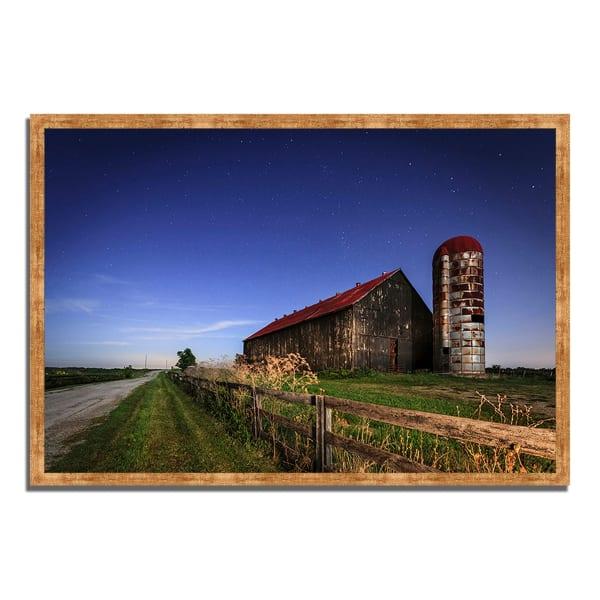 Framed Photograph Print 47 In. x 32 In. So God Made a Farmer Multi Color