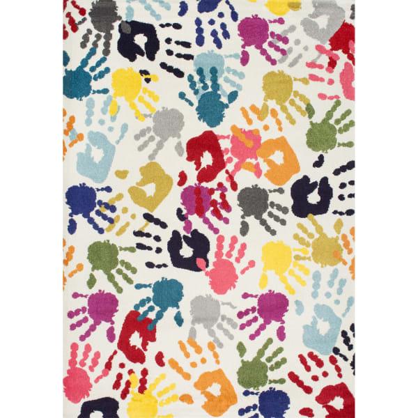 Pinkie Handprint 5' x 8' Multi Rug