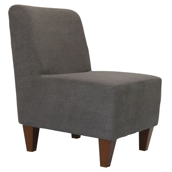 Amanda Graphite Armless Slipper Chair