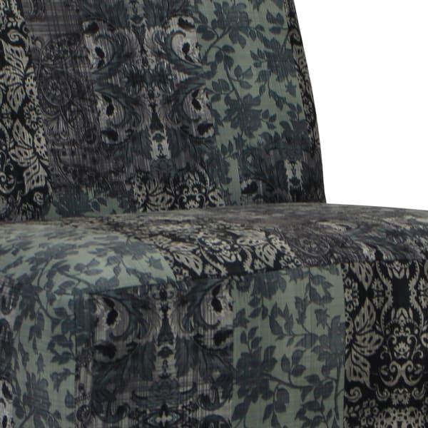 Slate Print Armless Slipper Chair