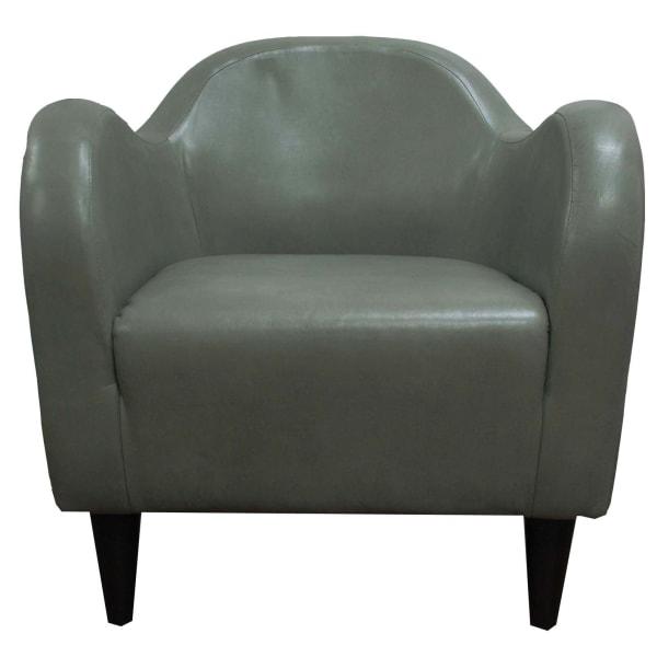 Quarry Gray Leatherette Club Chair