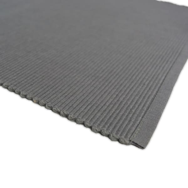 Ribbed Gray Placemats Set of 6