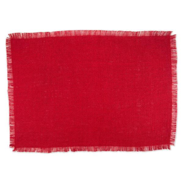 Tango Red Jute Placemats Set of 6