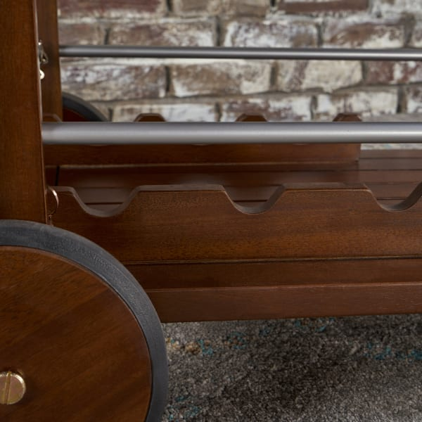 Dark Oak Bar Cart