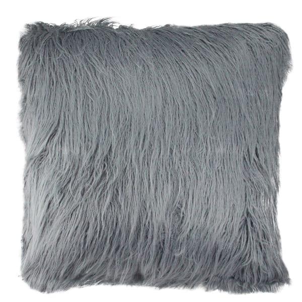 Throw Faux Fur Slate Blue Pillow