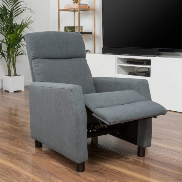 Classic Gray Upholstered Recliner