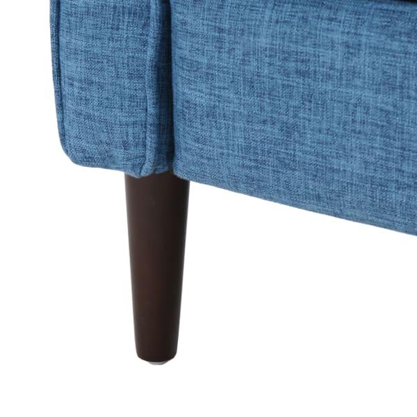 Mid Century Muted Blue Upholstered Rocker Set