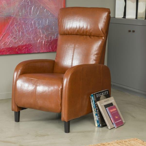 Hazelnut Bonded Leather Recliner