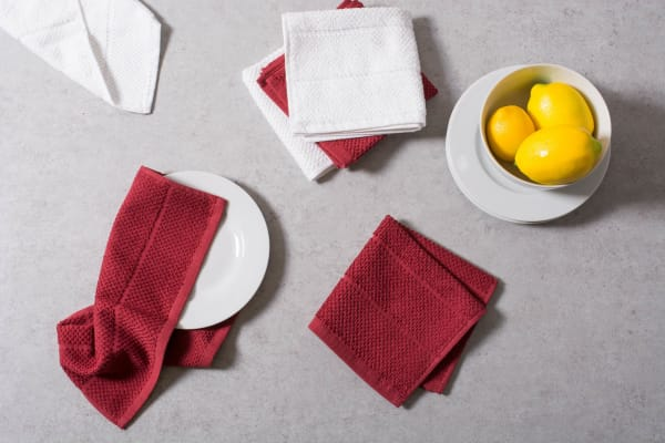Assorted Brick Red Dishcloth Set