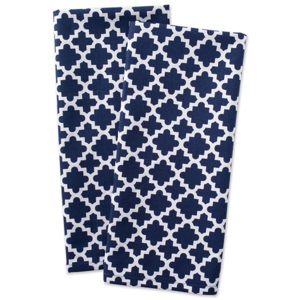 Geometric Blue Dishtowel Set