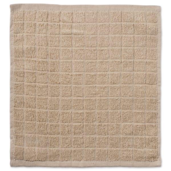 Tan Window Pane Dishcloth Set