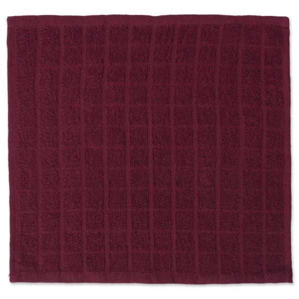 Marsala Window Pane Dishcloth Set