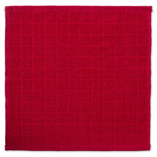 Red Window Pane Dishcloth Set