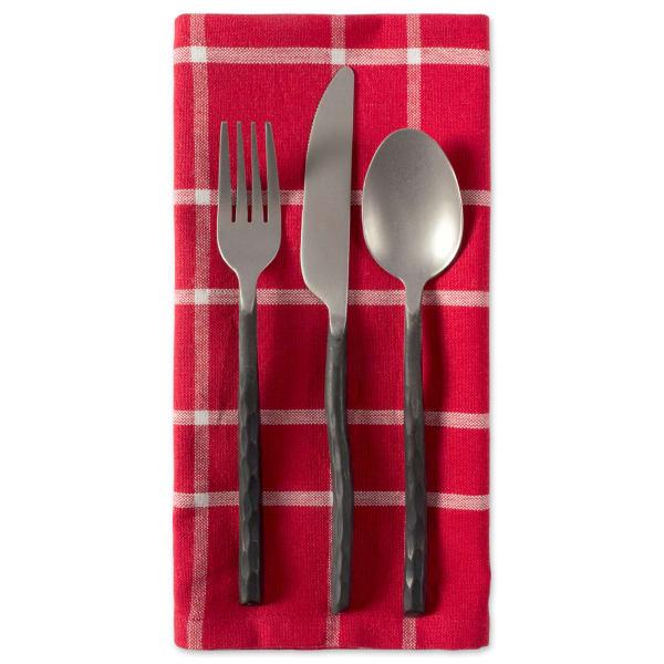 Holly Berry Plaid Napkin Set of 6