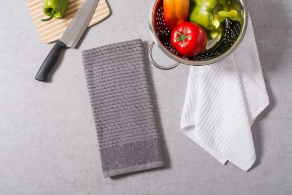 Gray & White Assorted Dishtowel Set of 4