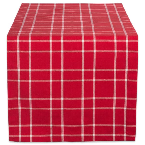 Holly Berry Plaid Table Runner
