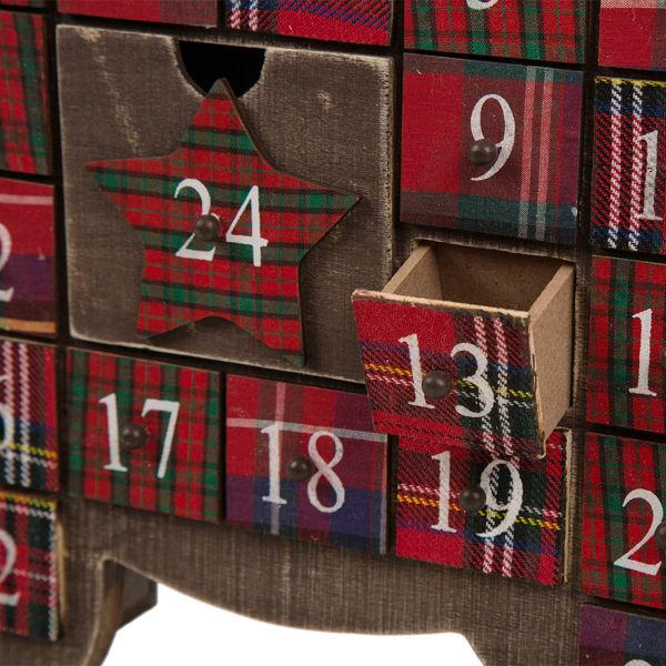 Wooden Reindeer Countdown to Christmas Advent Calendar