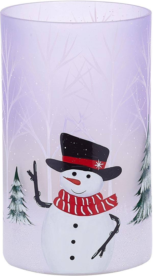 Smiley Snowman Jar Candle Holder
