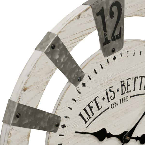 White Farmhouse Wall Clock
