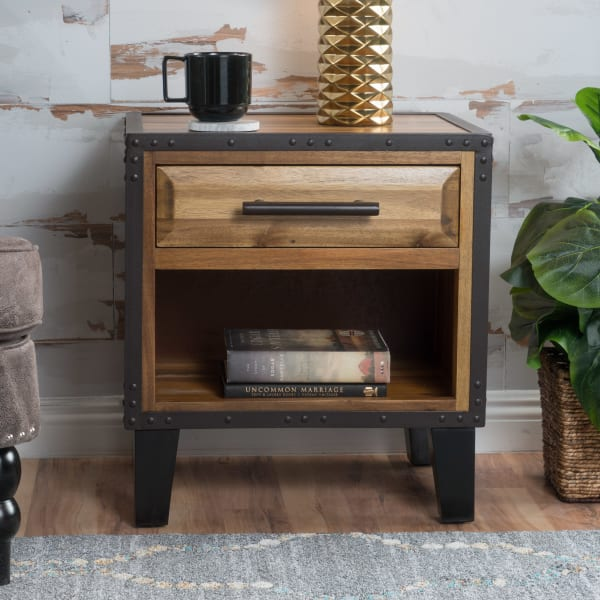 Natural Stained Accent Table
