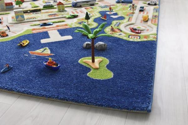 Mini City Multicolor 3D Kids Play Rug 4' x 6'