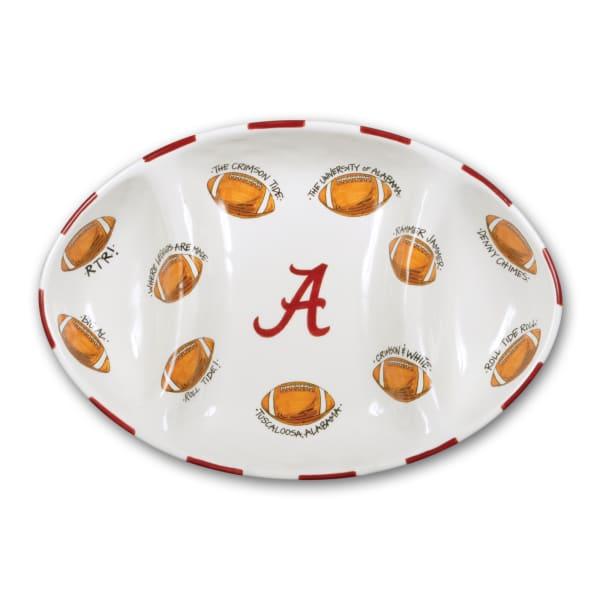 Alabama Ceramic Football Tailgating Platter