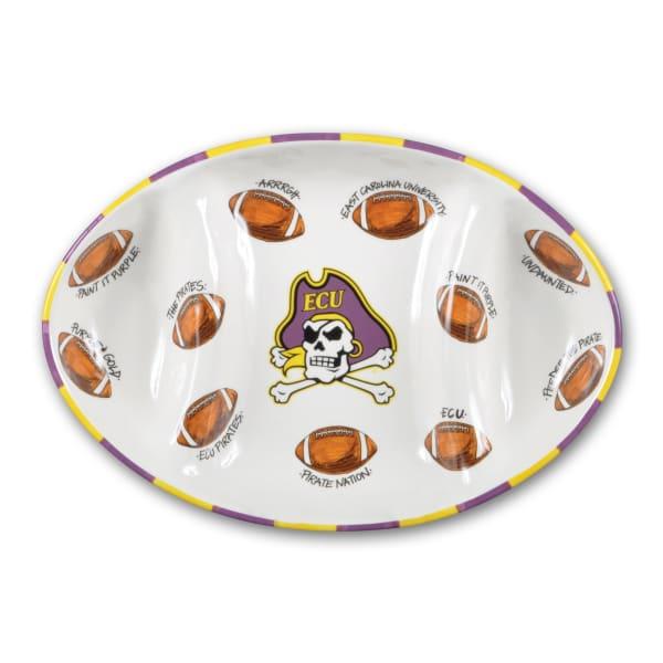 ECU Ceramic Football Tailgating Platter