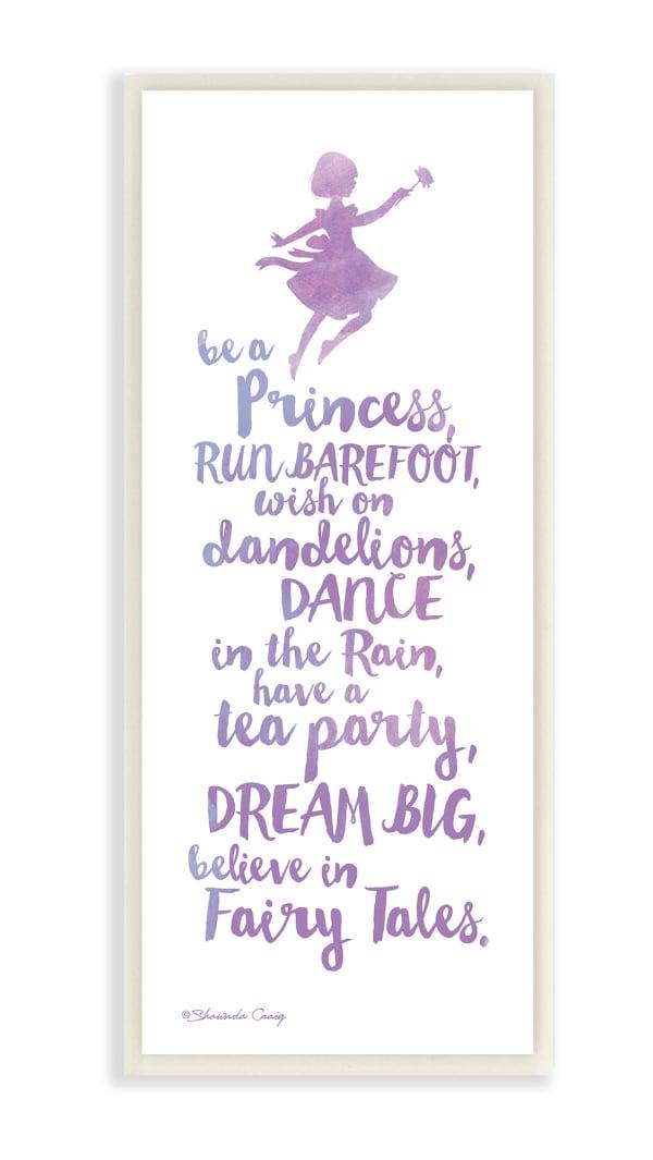 Watercolor Princess Wall Plaque Art
