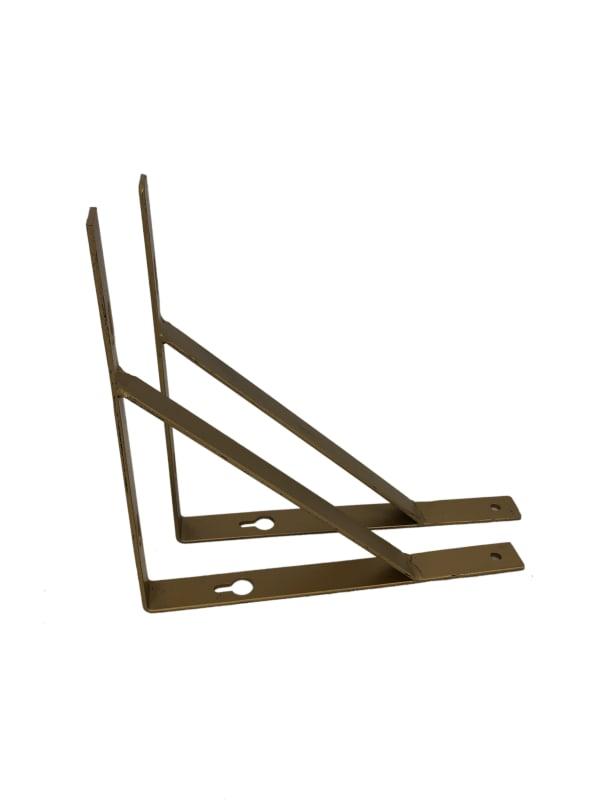 Gold Tri Shelf  Bracket Set of 2