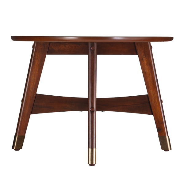 Tobias Brown Oval Coffee Table