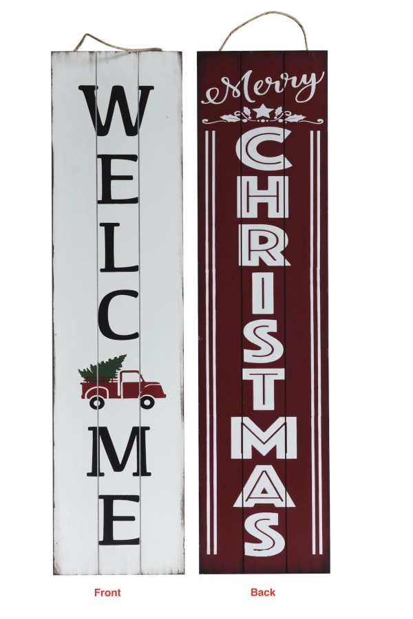 Merry Christmas Reversible Porch Sign