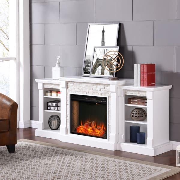 Jordyn Alexa-Enabled Smart Bookcase Fireplace